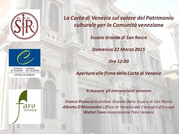 invito Carta di Venezia